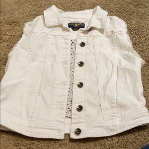 Lucky Brand girls white vest - Size XL
